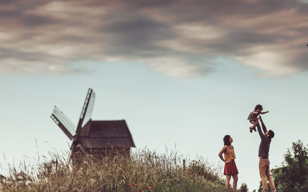 Familienfotografie, Familienshooting an der Bockwindmühle